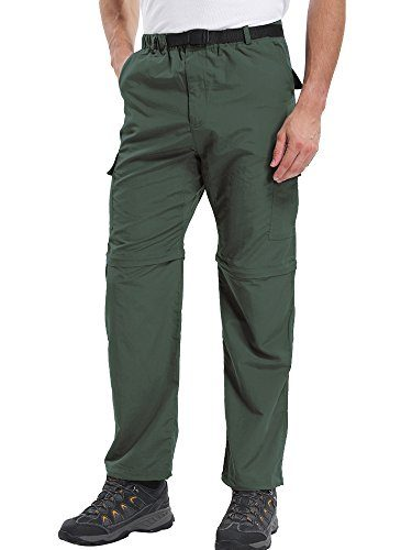 Men's Outdoor Quick Dry Convertible Lightweight Hiking Fishing Zip Off Cargo Work