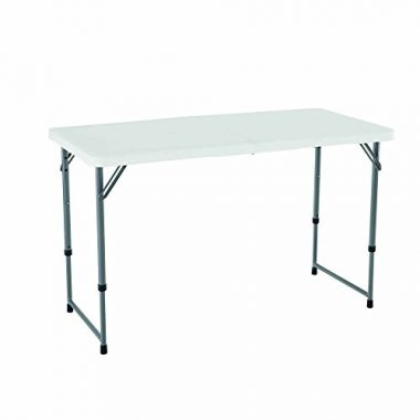 Lifetime Height Adjustable Folding Utility Camping Table