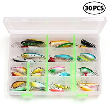 LotFancy 30 PCS Fishing Freshwater Lures