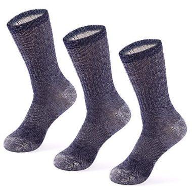 MERIWOOL 3 Pairs Merino Wool Blend Socks