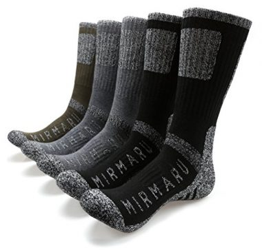 MIRMARU Men's Multi Performance Outdoor Sports Hiking Trekking Crew Socks