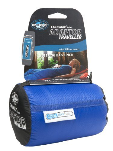 Sea to Summit Coolmax Adaptor Traveller Blue One Size Sleeping Bag Liner