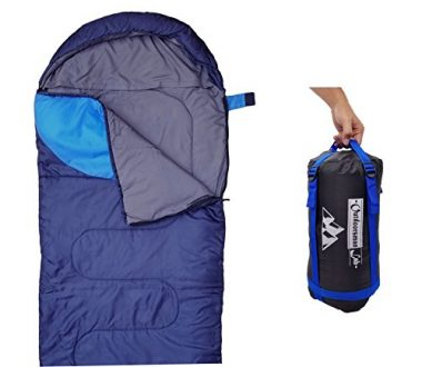 Outdoorsman Lab Sleeping Bag (47F/38F) Lightweight for Camping