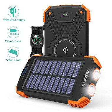 Solar Power Bank and Qi Wireless Charger by BLAVOR