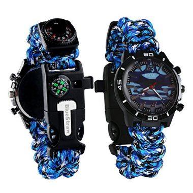 BlueStraw Survival Bracelet Watch
