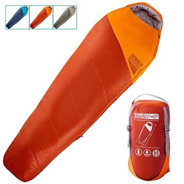 WINNER OUTFITTERS Mummy Backpacking Sleeping Bag