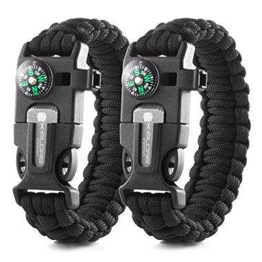 X-Plore Gear Emergency Paracord Survival Bracelet