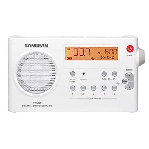 Sangean PR-D7 BK Digital Rechargeable AM FM Portable Radio