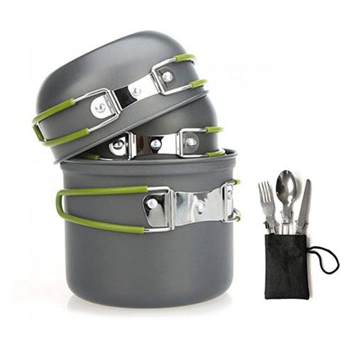 Aoduoer Mess Kit Backpacking Cookware