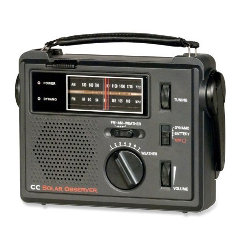 C CRANE CC Solar Observer Weather Windup AM/FM Portable Radio