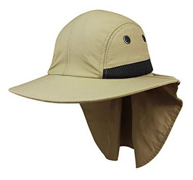 Top Headwear 4 Panel Flap Hiking Hat