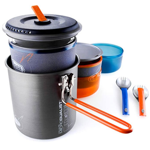 GSI Outdoors Halulite Microdualist II Backpacking Cookware