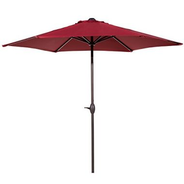 Abba Patio Outdoor Red Market Patio Umbrella