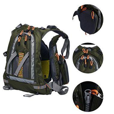 Amarine-made Fly Fishing Backpack Adjustable Size Mesh Fishing Vest Pack