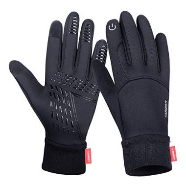 anqier Windproof Winter Hiking Gloves