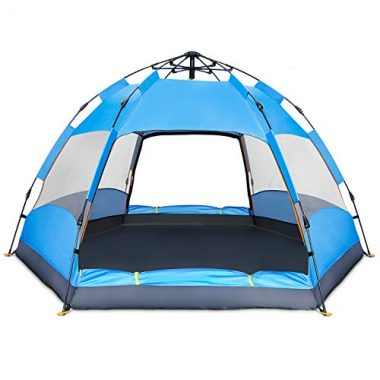 BATTOP 4 Person Tent [Double-Uses] Instant Pop Up Family Camping Tent