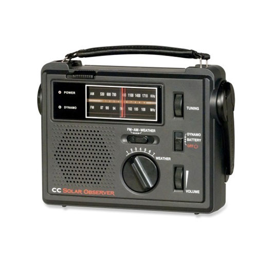 C CRANE CC Solar Observer Weather Windup AM/FM Portable Radio