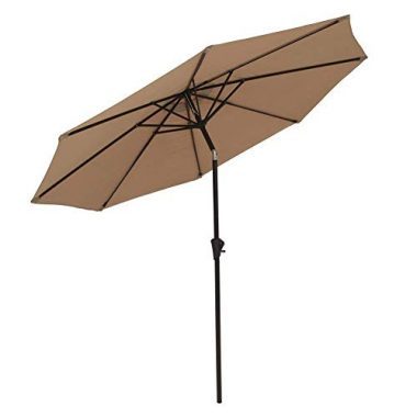 COBANA Outdoor Aluminum Table Patio Umbrella