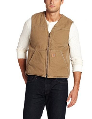 Carhartt Sherpa Lined Sandstone Rugged Hiking Vest