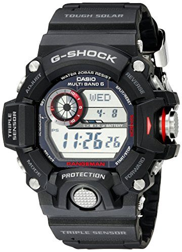 Casio Men's GW-9400-1CR Master of G Stainless Steel Solar Tactical Watch