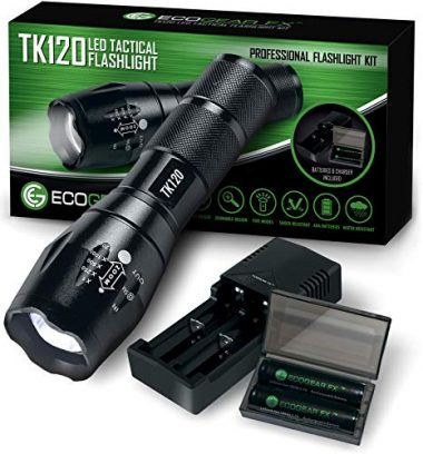 Complete LED Tactical Handheld Flashlight by EcoGear FX