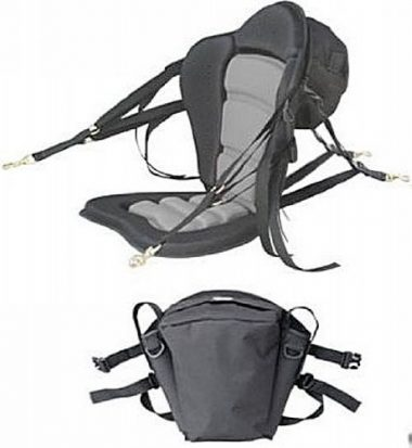 Deluxe Molded Foam Kayak Seat with detachable back packs