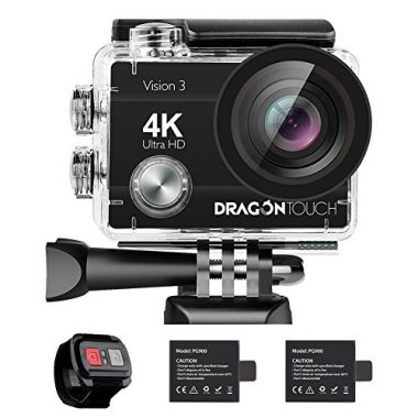 Dragon Touch 4K Action Camera 16MP Vision 3 Underwater Waterproof Camera
