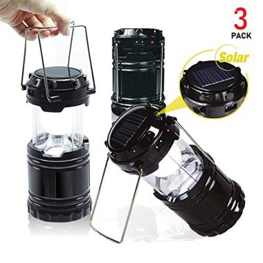 EACHPOLE Outdoor Camping LED Lantern with Solar Charging