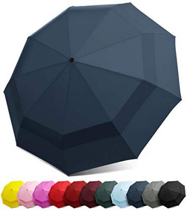 Compact Windproof Travel Umbrella by EEZ-Y