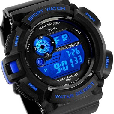 Fanmis Mens Military Multifunction Digital LED Tactical Watch