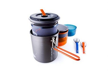 GSI Outdoors – Halulite Microdualist Cookset for Two