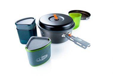 GSI Unisex Pinnacle Cook and Eat Set Backpacking Cookware