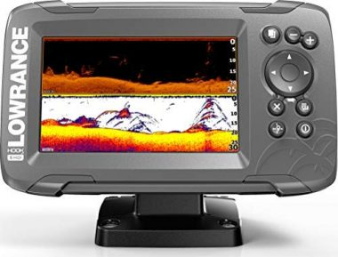 Lowrance HOOK2 Fish Finder with SplitShot Transducer Marine GPS