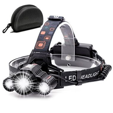 Cobiz Brightest High 6000 Lumen LED Work Fishing Headlamp