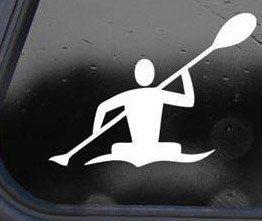 I Make Decals™ Kayak Kayaker Paddle Decal Sticker Die-cut Decal Sticker Graphic