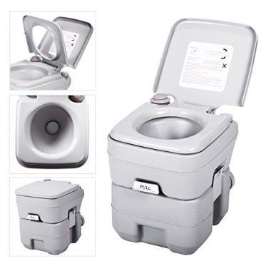 JAXPETY Porta Potti Outdoor Indoor Marine Toilet