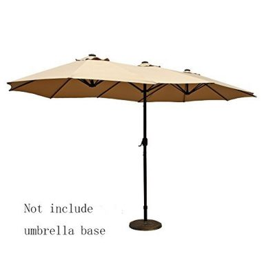 Double-Sided Patio Outdoor Umbrella by Le Papillon