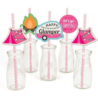 Glamping Straws by Big Dot of Happiness