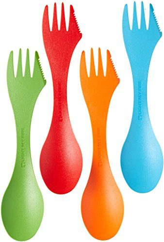Light My Fire Original BPA-Free Multi-Color 4-Pack Tritan Spork