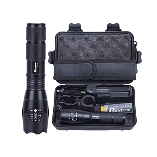 Phixton Rechargeable LED Tactical Flashlight