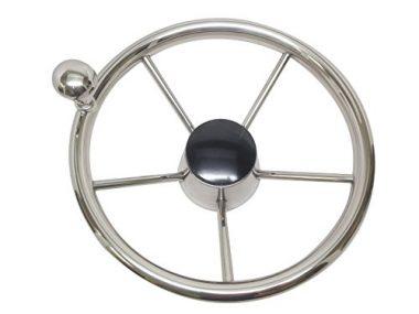 Pactrade Marine Stainless Steel Boat Steering Wheel
