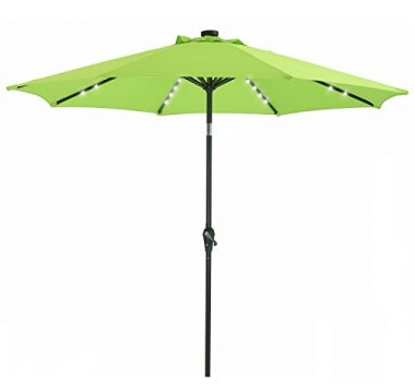Solar Powered LED Outdoor Umbrella by Patio Watcher