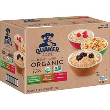 Organic Instant Oatmeal Backpacking Food