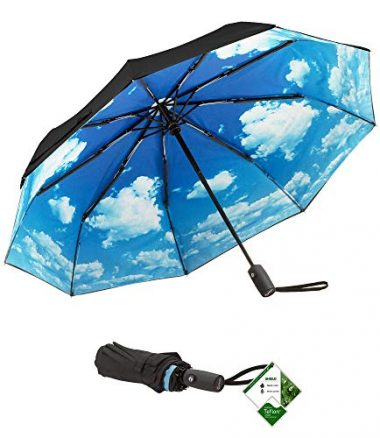 Blue Sky Travel Umbrella by Repel Umbrella