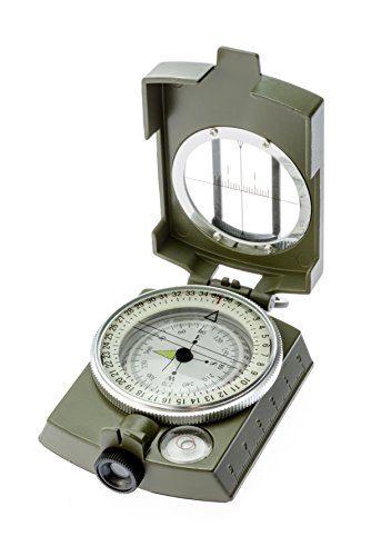 SE CC4580 Lensatic/Prismatic Sighting Compass