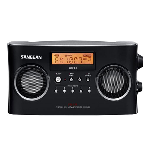 Sangean PR-D7 BK Digital Rechargeable AM FM Portable Radio