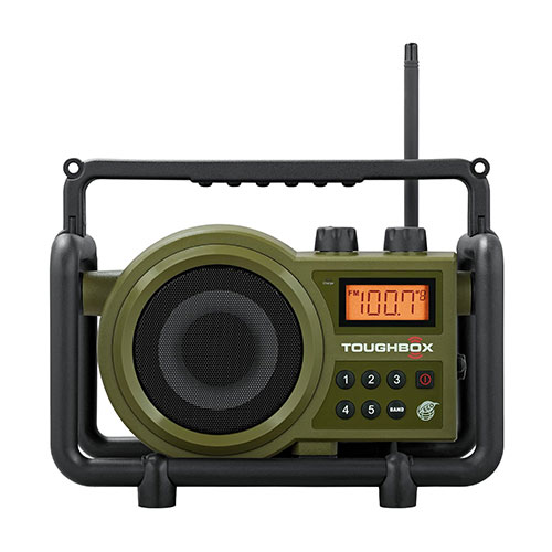Sangean (Toughbox) AUX-In Rechargeable AM FM Portable Radio