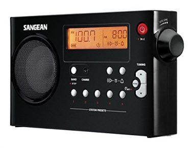 Sangean PR-D7 BK AM/FM Digital Rechargeable Portable Radio