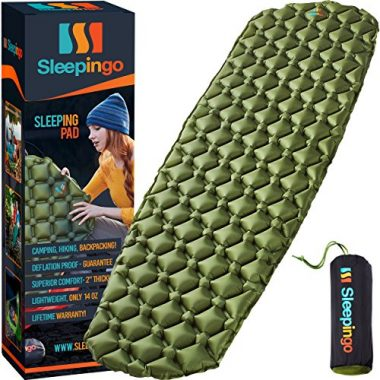 Sleepingo Ultralight Inflatable Backpacking Sleeping Pad