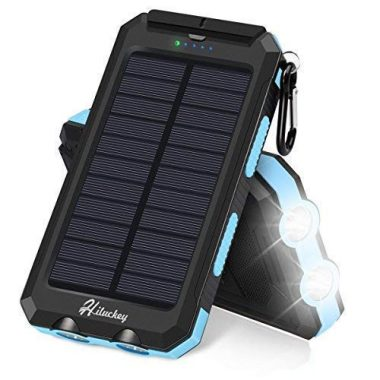 Hiluckey Solar Charger 10000mAh Camp Gear